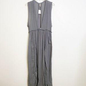 Free People maxi slip dress. Gray. NWOT